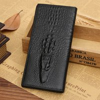 Wholesale The new black and brown leather men s wallet long section of European and American style