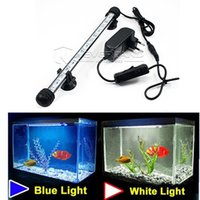Wholesale EU Plug Aquarium Fish Tank LED Light CM Bar Submersible Waterproof Clip Lamp Decor Dimmable