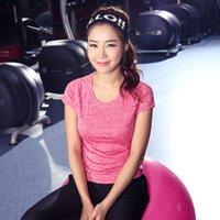 Wholesale Hot new fast drying Women s clothing Yoga fitness dance sportswear female t top Women T Shirts