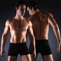 Wholesale M XL Men s swimming pants are slim and spandex Lycra boxer spa beach swimming plus size summer