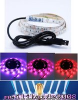 bank dc - 1M waterproof V RGB Led Strip mini controller USB cable to power bank PC TV MYY
