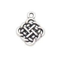 antique knotted - Hot Antique Silver Color Alloy Chinese knot Charms AAC023