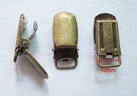 al por mayor chupete antigüedades-Envío libre 1.0 centímetros internos, 25pcs metal de bronce antiguo redondo del bebé del rectángulo del pacificador del gallus Suspender Clips los sostenedores, clip de los apoyos