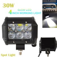 Wholesale 4 quot Inch Car Vehicle W LM LED Work Spot Light Bar WD ATV Off road SUV Work Light Bar for Trucks IP CLT_400