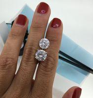 Wholesale 8 CARAT DIAMOND STUD EARRINGS E SI2 ROUND K WHITE GOLD CERTIFIED RARE ROCKS
