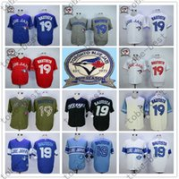 Wholesale Jose Bautista Jersey Toronto Blue Jays White Gray Red Blue th Anniversary Patch Stitched Jersey