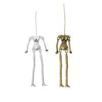 antique human skeleton - Human Skeleton Body Shaped Pendants Fit DIY Dolls Antique Silver Bronze Vintage Necklaces Pendants For Jewelry Making