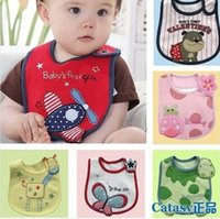 Wholesale 2016 New Baby Bibs Burp Cloths Baby Feeding Baby Cotton Clothes Feed Baby Accessories Boys Girls Waterproof Bibs Styles Can Chose