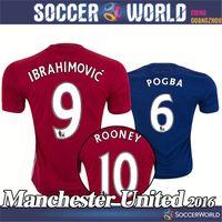 Wholesale Manchester UTD shirts Manchester UTD Top quality IBRAHIMOVIC POGBA ROONEY shirts