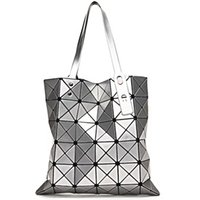 amazing artworks - Amazing Folding Single Shoulder Bag Handbags Geometric Lattice Laser Package Fashion Casual Party Bag Big Bag