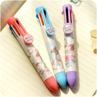 ballpoint ink refill - 3 color ink mm refill ballpoint pen Cute Girl s life ballpen Stationery Office accessories school supplies