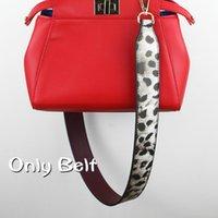 Wholesale Handles for Handbags Strap You Bag Straps Save Your Bag Leopard Leather Handles for Bags Strap Wide Shoulder Strap Bag B5004