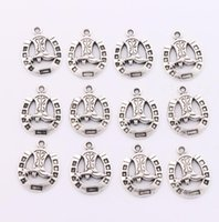 Charms alloy boots - 19x24 mm Thickness mm Tibetan Silver Horseshoe Boots Spacer Charm Beads Pendants Alloy Handmade Jewelry DIY L277