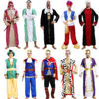 arab music tv - Arab Costume King Prince Dubai Costume For Men Cosplay Props Stage Performance Halloween Carnival Dance Party Supplies