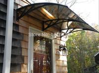 Wholesale DS120240 P x240cm Depth cm Width cm simple and nice house door polycarbonate awnings cm
