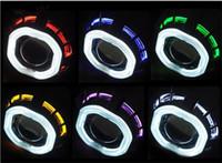 al por mayor bi xenón h1 proyector-Car Styling LHD / RHD de 2,8 pulgadas HID bi xenón Proyector Linterna Lámpara + CCFL Ángel ojos Noche Luz Gafas H1 H7 H4 Faro