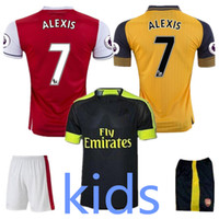 Wholesale quality Arsenal Kids Away home RD Jerseys WILSHERE OZIL WALCOTT RAMSEY ALEXIS shirt