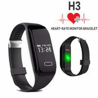 Wholesale Hot Health Band Smart Bracelet H3 Wristband Heart Rate Monitor Bluetooth Passometer Sports Fitness Tracker Smartband For IOS and Android