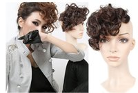 bang light - curly hair bangs fringe Fashionable curly hair bang and hair pieces In the pear flower roll restoring ancient ways