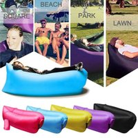folding camping chair - Fast Inflatable Hangout Lounger Folding Sleeping Fabric Bag L azy Chair for Outdoors Air Sleep Sofa DHL Free OTH238