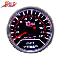 Wholesale New quot cm Universal Car Motor EGT Exhaust Gas Temperature LED Gauge Meter Instruments Cheap Instruments