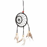 Wholesale New Arrival India Style Handmade Dream Catcher Two Circular Net With Feather Hanging Decoration Ornament Gift Home Car Decor