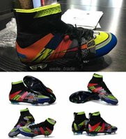 Wholesale 22016 Mercurial Superfly What the Mercurial FG Mens Soccer Boots High Quality Colors Full Soccer Cleats Factory Outlet Football Shoes