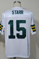 bart starr - Green Bart Starr Jersey Throwback Football Jersey Best quality Authentic Jersey Size M L XL XXL XXXL Accept Mix Order