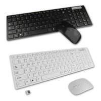 Wholesale 1 set g bianco pc wireless keyboard mouse keypad film kit set per desktop pc laptop spedizione gratuita Brand New