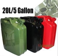 Wholesale Black Red Green NATO Gasoline Fuel Refill Gallon Jerry Can Steel Tank Maximum Liter Gallon