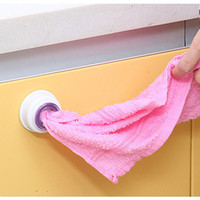 bath room shelves - 1PCS Wash cloth clip holder clip dishclout storage rack bath room storage hand towel rack Hot