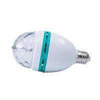 Wholesale 1Pcs E27 W RGB Stage LED SMD Light Auto Rotating Holiday Lamp AC85V V Disco DJ Party Holiday Dance Bulb Christmas Lighting