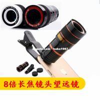 Wholesale Mobile phone times telephoto lens telescope universal clip mobile phone camera lens X HD no dark corners