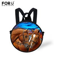 ba book - pecial Purpose Bags School Bags Animal Printing Child School Bags Round Schoolbag for Kindergarten Baby Boys Crazy Horse Students Book Ba