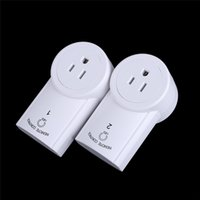 Wholesale The Wireless Remote Control Switch Electrical Plug Wireless Remote Control Power Outlet Plug Socket Switch Set For Lamps Household Appliance