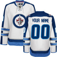 authentic jets jerseys - 2016 Customized Men s Winnipeg Jets custom Any Name Any Number Ice Hockey Jersey Authentic Jersey Stitched Accept Mix Ord size S XL