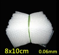 Wholesale 8x10cm mm New Wrap Envelopes White Plastic Bubble Bags LDPE Packing material Bubble Bag price