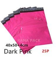 [Paquete de Kana] - Rosa oscuro 40x50cm + 4cm /15.7x19.7inches+1.57inches el labio Co-extrusionó el sello del uno mismo de la Multi-capa El envoltorio polivinílico del color empaqueta el sobre rellenado