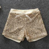 baby clothes bling - Hot Baby Girls Sequined Bow Short Pants Kids Girl Princess Bowknot Pant Girl Bling Causal Pant Babies Christmas clothing