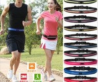 baseballs dual sport - Sports Running Waist Pack Outdoor Sweatproof Reflective Waist Fanny Pack Fitness Workout Runner Dual Pouch Bag Phone expandable pockets