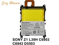 Wholesale Sony Xperia Z1 L39H C6903 C6943 D5503 V And mAh Cellphone Battery LIS1525ERPC Highest Quanlity With Fast Shipping