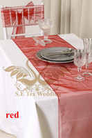 Wholesale 30pcs RED Color Organza Table Runner For Wedding Decoration Good Looking