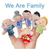 baby sister doll - Family Member Finger Puppet Toy Baby Hand Finger Story Plush Doll Grandpa Grandma Father Mother Brother Sister Six Characters Promotion Gift