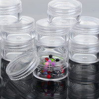 Wholesale Clear Transparent Plastic Jewelry Boxes for Body Jewelry Round Storage Boxes Plastic Package Box In Dia cm JA05003