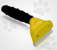 Wholesale 4 inch Pet Grooming Tools Pet Shedding Brush Dog cat Hair Removal Comb Health Drop shipping