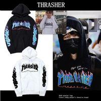 animals magazine - Thrasher Skateboard MAGAZINE Hoodies Men Women Flame Print Cotton Brand Clothing Outerwear Coats Hip Hop Hooded Sweatshirts