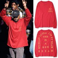 Wholesale Men s Long Sleeve T Shirt SEASON I FEEL LIKE PABLO Tee Shirts Kanye West Letters Print Tees Sportswear LGF0602