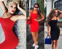 Wholesale Summer Women s Sexy Package Hip Tight Clubwear Vest Dresses Vestidos Europeo Elbise Casual Short Mini Dress Strapless Dress braces skirt
