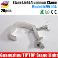 aluminium eyelets - Freeshipping New A Aluminium Half Couple Steel Eyelet Light Truss Light Stage Clamp Load kg for mm Pipe cm Wide