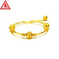 achat en gros de bracelets plaqué or jaune-Vente en gros Top Fashion Bracelet Bracelet de luxe en alliage 24K or jaune Plaqué bijoux européenne Charme perlé alex et ani Livraison gratuite.